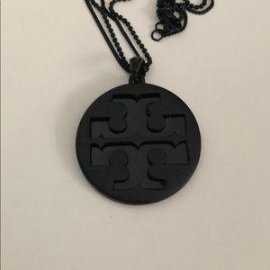Tory Burch Pendant Necklace (Black)